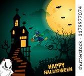 happy halloween background...   Shutterstock .eps vector #1179977074