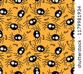 halloween seamless pattern with ...   Shutterstock .eps vector #1179981934