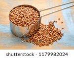 glutn free buckwheat kasha in a ... | Shutterstock . vector #1179982024