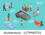 flat isometric vector concept... | Shutterstock .eps vector #1179983731