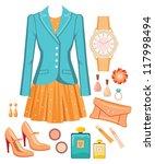 fashion set. raster... | Shutterstock . vector #117998494