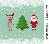 santa claus reindeer and... | Shutterstock .eps vector #118000795