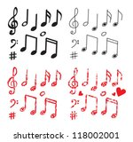 musical note  art set | Shutterstock .eps vector #118002001
