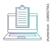 laptop computer with checklist | Shutterstock .eps vector #1180027561