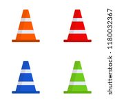 set of multi colored cones.... | Shutterstock .eps vector #1180032367
