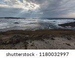taiwan east coast rocky... | Shutterstock . vector #1180032997
