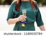 bride or bridesmaid holding... | Shutterstock . vector #1180035784