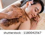 beautiful woman in spa salon... | Shutterstock . vector #1180042567