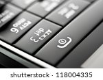 glass phone button close up | Shutterstock . vector #118004335