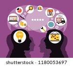 mind map team   illustration | Shutterstock .eps vector #1180053697