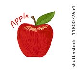apple  fruit doodle drawings... | Shutterstock .eps vector #1180072654