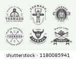 set of vintage snowboarding ...   Shutterstock . vector #1180085941