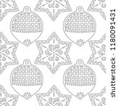gingerbread. black and white... | Shutterstock .eps vector #1180091431