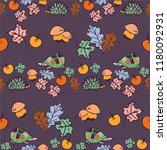 seamless autumn background with ...   Shutterstock .eps vector #1180092931