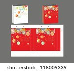 gift pocket package design | Shutterstock .eps vector #118009339