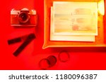 analog photo printing  film ... | Shutterstock . vector #1180096387
