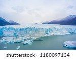 perito moreno glacier ... | Shutterstock . vector #1180097134