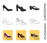 isolated object of footwear and ... | Shutterstock .eps vector #1180100944