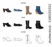 vector design of footwear and... | Shutterstock .eps vector #1180102321