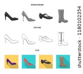 isolated object of footwear and ... | Shutterstock .eps vector #1180102354