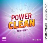 detergent advertising concept... | Shutterstock . vector #1180102714