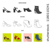 isolated object of footwear and ... | Shutterstock .eps vector #1180110241