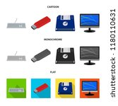 vector design of laptop and... | Shutterstock .eps vector #1180110631
