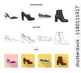 vector illustration of footwear ... | Shutterstock .eps vector #1180111417