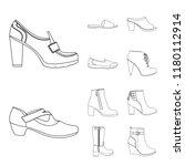 vector illustration of footwear ... | Shutterstock .eps vector #1180112914