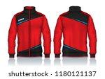 jacket design sportswear track... | Shutterstock .eps vector #1180121137