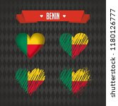 benin. collection of four... | Shutterstock .eps vector #1180126777