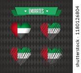 united arab emirates.... | Shutterstock .eps vector #1180126804