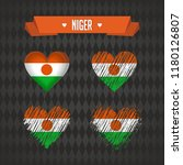 niger. collection of four...   Shutterstock .eps vector #1180126807