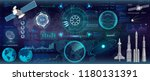 head up display   hud  ui style.... | Shutterstock .eps vector #1180131391