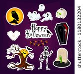 abstract halloween stickers for ... | Shutterstock .eps vector #1180132204