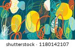 creative doodle art header with ... | Shutterstock .eps vector #1180142107