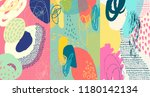 creative doodle art header with ... | Shutterstock .eps vector #1180142134