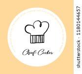confectionery emblem black ink... | Shutterstock .eps vector #1180144657