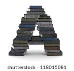 letter a  stacked from many ... | Shutterstock . vector #118015081