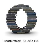 letter o  stacked from many ... | Shutterstock . vector #118015111