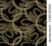 intricate abstract gold 3d... | Shutterstock .eps vector #1180156501