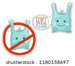 Plastic Bag Cartoon Character...