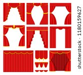 curtains with lambrequins on... | Shutterstock .eps vector #1180159627