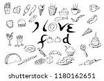 hand draw sketch lettering i... | Shutterstock .eps vector #1180162651