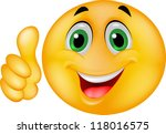 happy smiley emoticon face | Shutterstock . vector #118016575