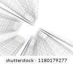 conceptual architecture 3d  | Shutterstock .eps vector #1180179277