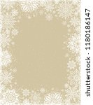 beige christmas background with ... | Shutterstock .eps vector #1180186147