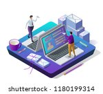 sending messages. email inbox ... | Shutterstock .eps vector #1180199314