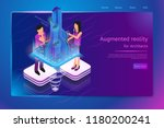 augmented reality for... | Shutterstock .eps vector #1180200241
