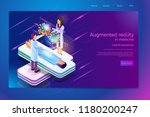 augmented reality in medicine... | Shutterstock .eps vector #1180200247